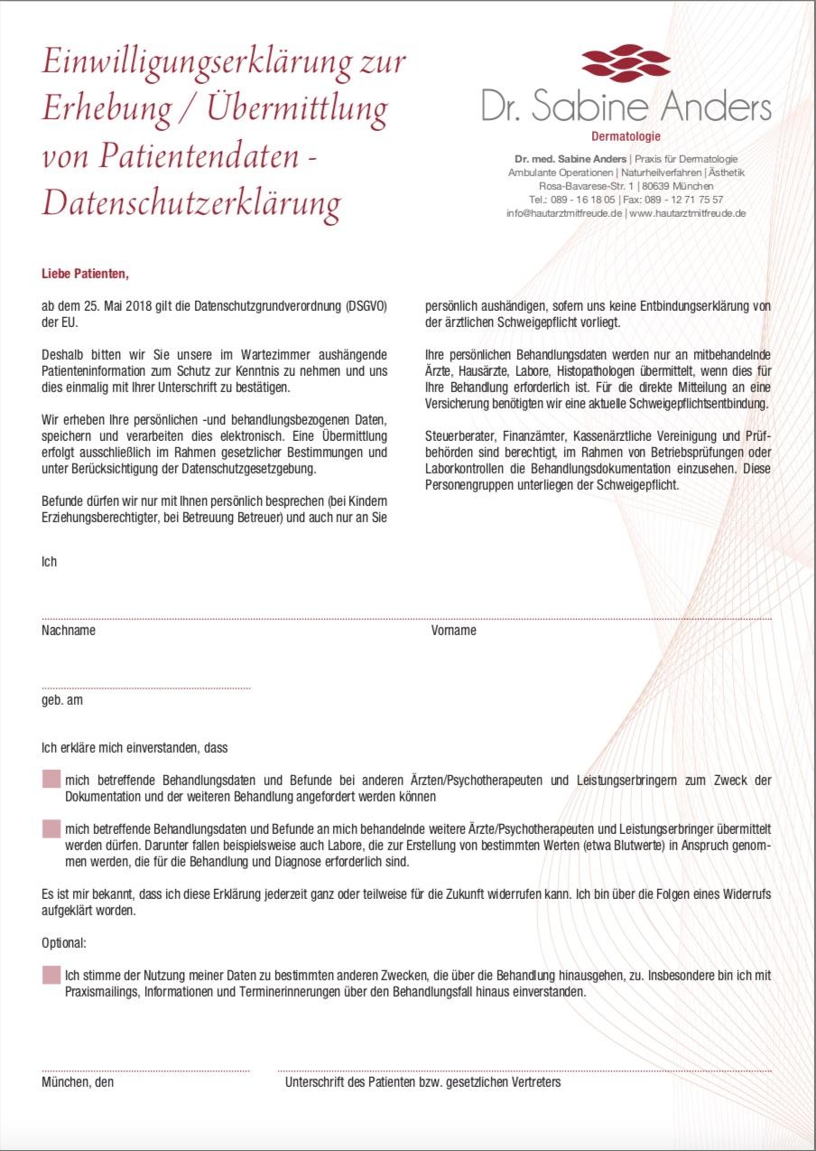 Bild zur Einwilligungserklaerung Datenschutz
